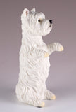 Westie West Highland White Terrier Dog Figurine Begging 4