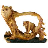 Bear Faux Carved Wood Figurine 6