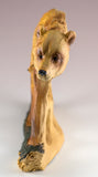 Bear Faux Carved Wood Figurine 12