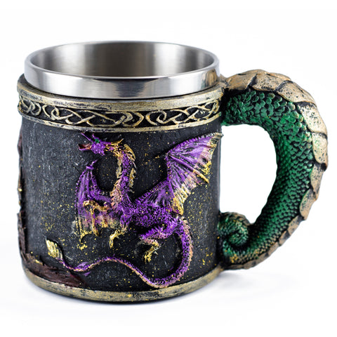 Child's Dragon and Castle Mug 8 Oz. Stainless Steel Interior