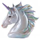 Rainbow Unicorn Head Figurine 1