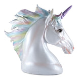 Rainbow Unicorn Head Figurine 2