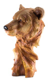 Bear Head Bust Faux Carved Wood Look Figurine 2