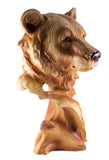 Bear Head Bust Faux Carved Wood Look Figurine 3
