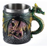 Green Dragon Mug 14 Oz. Stainless Steel Interior