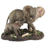 Elephant Mother and Baby Calf Figurine 1