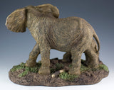 Elephant Mother and Baby Calf Figurine 3