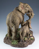 Elephant Mother and Baby Calf Figurine 4