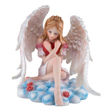Love angel fairy with heart figurine