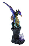 Multicolor dragon figurine with crystals 2