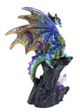 Multicolor dragon figurine with crystals 3