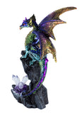 Multicolor dragon figurine with crystals 4
