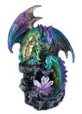 Multicolor dragon figurine LED light up crystals 1