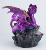 Dragon Figurine Purple With LED Crystals 3