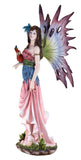 Large Scale Pink Fairy With Red Parrot Figurine 2