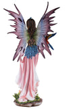 Large Scale Pink Fairy With Red Parrot Figurine 3
