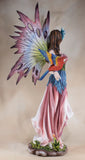 Large Scale Pink Fairy With Red Parrot Figurine 4