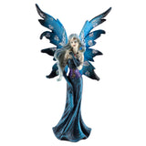 Blue Fairy Figurine With Sparkly Glitter Wings