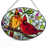 Orchard Cardinals Glass Suncatcher By AMIA 4
