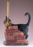 "Black Cat Figurine ""A Brush With Magick"" By Lisa Parker"