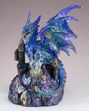 Dragon Figurine Blue and Purple With LED Light Up Crystalsv