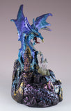 Dragon Figurine Blue and Purple With LED Light Up Crystals