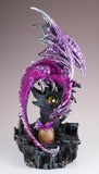 Dragon Figurine Sparkly Pink With Gem and LED Light Up Hatching Egg