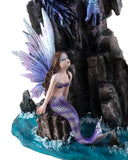Mermaid With Sea Dragon Figurine Large Scale 2