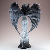 Gothic Dark Angel Fairy With Feather Wings Figurine 4