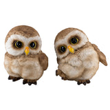 Pair of Owl Figurines Statues 8