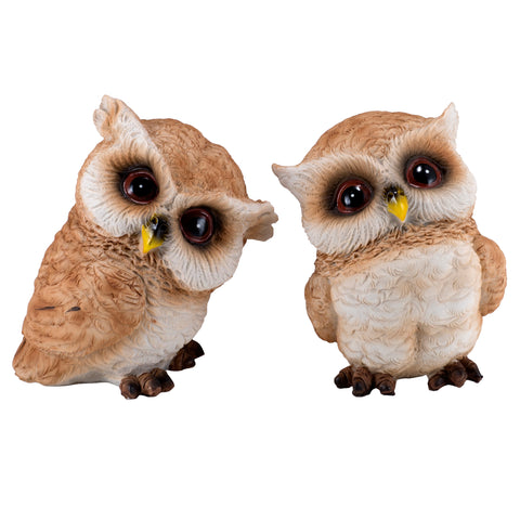 Pair of Owl Figurines Statues 1