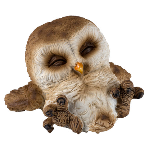 Cute Mini Baby Owl Sleeping Figurine 1