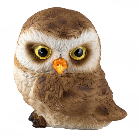 Cute Mini Baby Owl With Head Turned Figurine 1