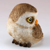 Cute Mini Baby Owl With Head Turned Figurine 2