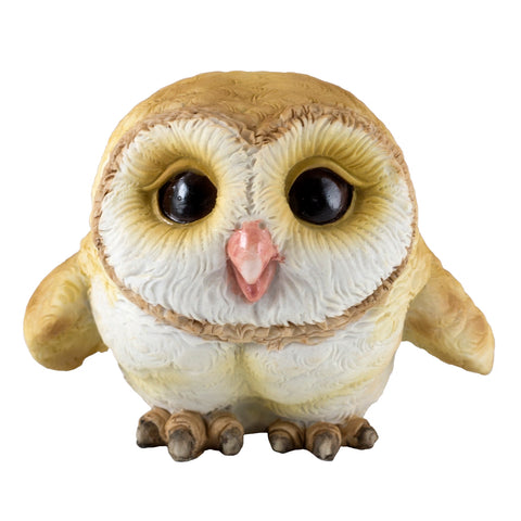 Cute Mini Baby Barn Owl Figurine 1