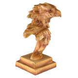 Mini Eagle Head Bust Figurine Faux Carved Wood 1