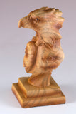 Mini Eagle Head Bust Figurine Faux Carved Wood 2