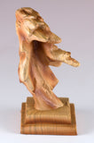 Mini Eagle Head Bust Figurine Faux Carved Wood 3