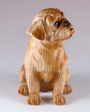 Boxer Faux Carved Wood Look Dog Figurine 2