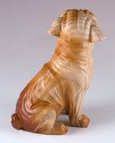 Boxer Faux Carved Wood Look Dog Figurine 3