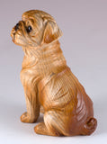 Boxer Faux Carved Wood Look Dog Figurine 4