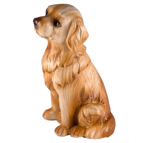 Golden Retriever Faux Carved Wood Look Dog Figurine