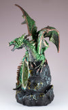 Green Sparkly Dragon Figurine On LED Light Up Geode Rock 4