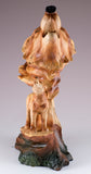 Howling Wolf Head Bust Faux Carved Wood Look Figurine 2