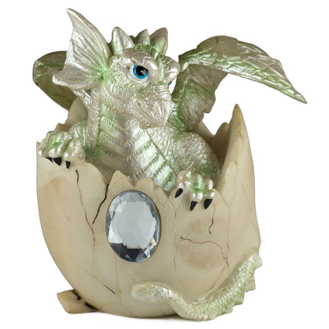 Dragon Figurine Light Green Baby Hatching from Egg 1