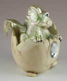 Dragon Figurine Light Green Baby Hatching from Egg 4