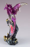 Pink Sparkly Dragon Figurine On Geode Rock 4