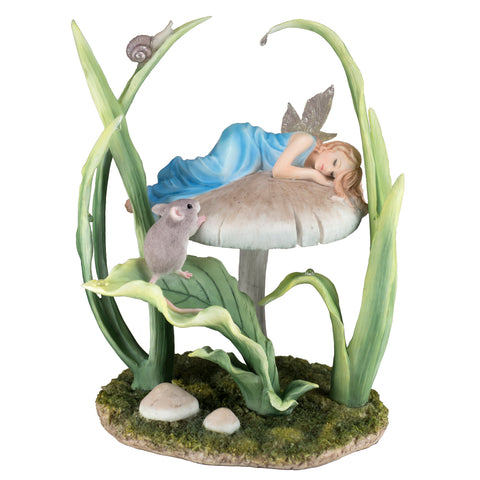 "Fairy Sleeping On Mushroom Figurine ""Sweet Dreams"" By Rachel Anderson"