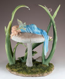 Fairy Sleeping On Mushroom Figurine 3