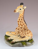 Giraffe Baby Calf Figurine Laying
